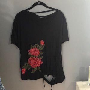 Ripped Vintage Rose Shirt